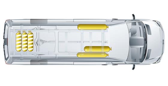 Sprinter ubicación de los tubos de NGT