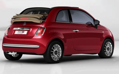 Fiat 500-red